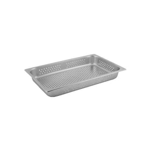 8711095-TR 1/1 Size Perforated Steam Pan Stainless Steel Chemworks Hospitality