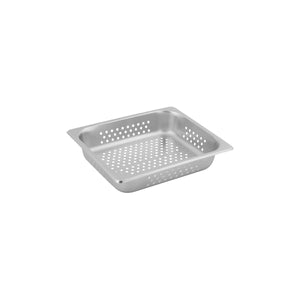 8712060-TR 1/2 Size Perforated Steam Pan Stainless Steel Chemworks Hospitality