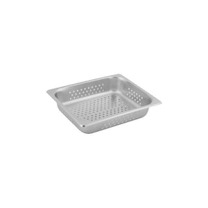 8712095-TR 1/2 Size Perforated Steam Pan Stainless Steel Chemworks Hospitality