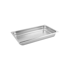 885103-TR 1/1 Size Perforated Steam Pan Stainless Steel Chemworks Hospitality