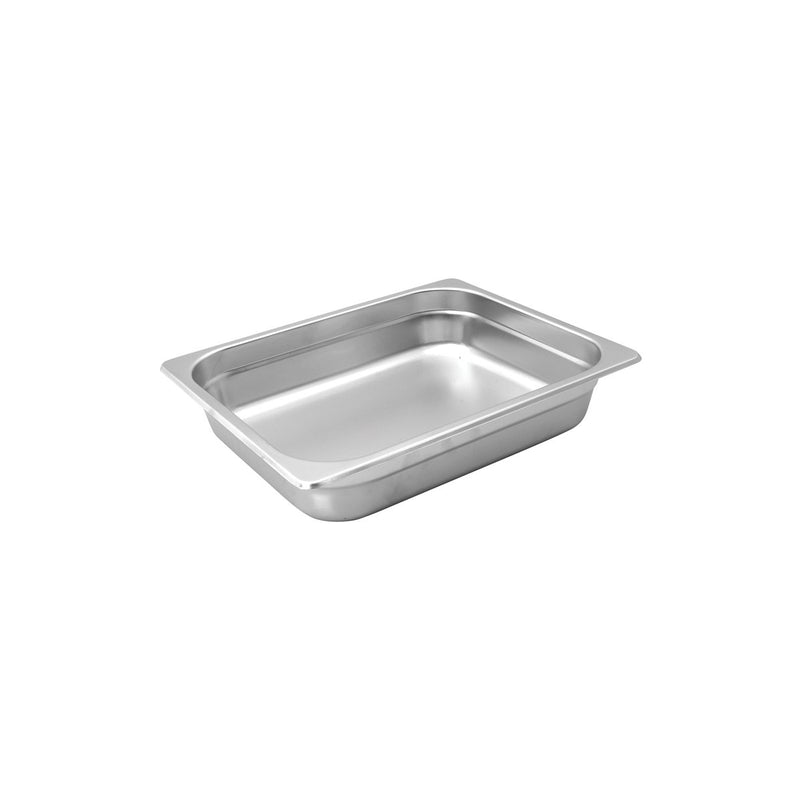 885204-TR 1/2 Size Anti-Jam Steam Pan Stainless Steel 6.6Ltr Chemworks Hospitality