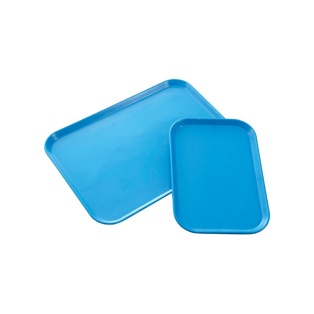 899146-KHA Rectangular Tray Fibreglass Blue 560x405mm Chemworks Hospitality Canberra