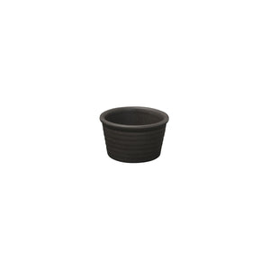 90916 Zuma Charcoal Ribbed Ramekin 85x50mm / 140ml Chemworks Hospitality Canberra