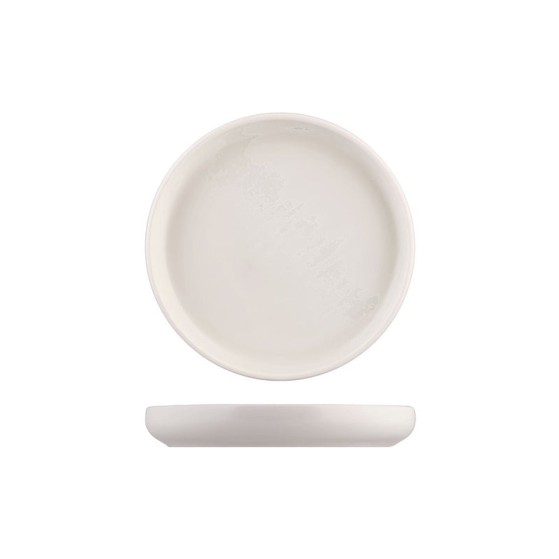 926519 Moda Porcelain Snow Stackable Round Plate 190mm Chemworks Hospitality Canberra