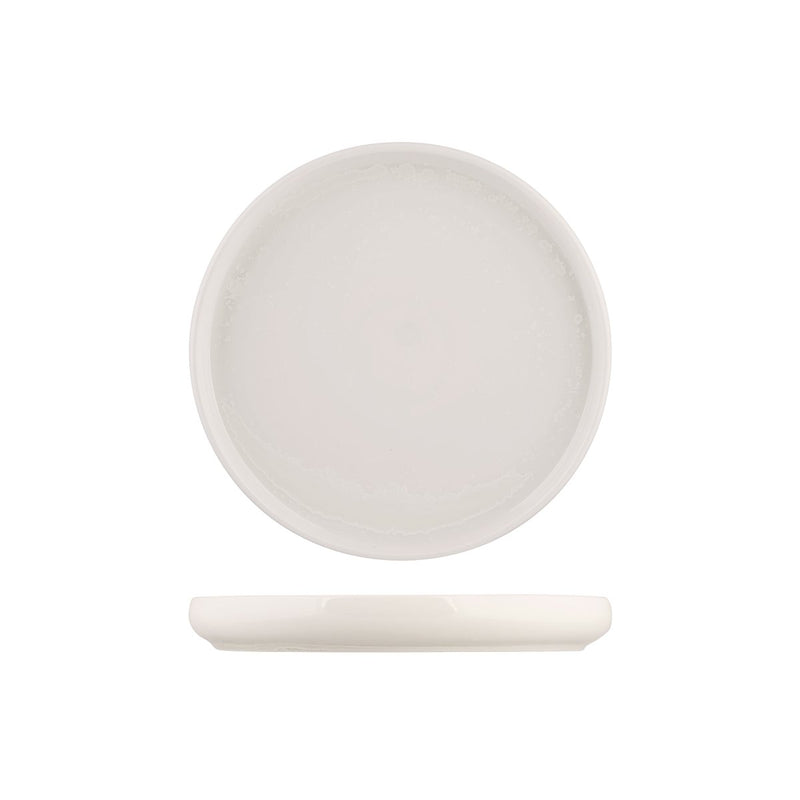 926521 Moda Porcelain Snow Stackable Round Plate 210mm Chemworks Hospitality Canberra