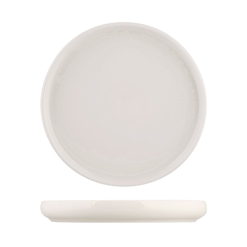 926526 Moda Porcelain Snow Stackable Round Plate 260mm Chemworks Hospitality Canberra