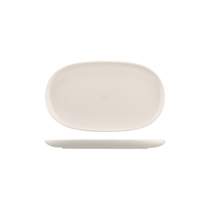 926542 Moda Porcelain Snow Oval Coupe Plate 300x180mm Chemworks Hospitality Canberra