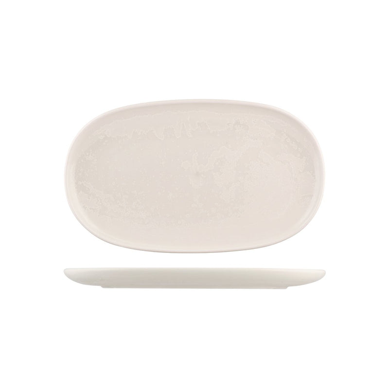 926544 Moda Porcelain Snow Oval Coupe Plate 355x210mm Chemworks Hospitality Canberra
