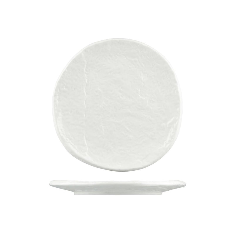 929624-W Cheforward Prevail Round Plate. Gloss White 230mm Chemworks Hospitality Canberra