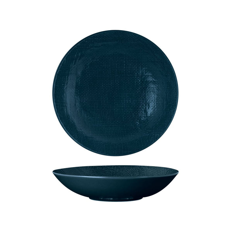 94553-BL Luzerne Linen Navy Blue Round Share Bowl 230mm / 1100ml Chemworks Hospitality Canberra