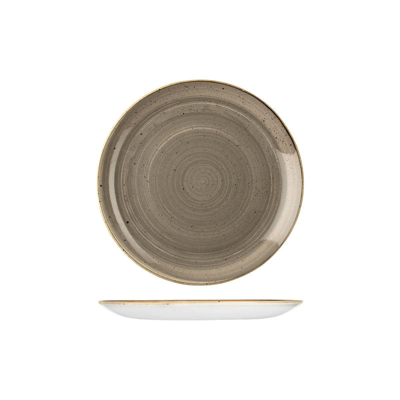 9975122-P Stonecast Peppercorn Grey Round Coupe Plate 217mm Chemworks Hospitality Canberra