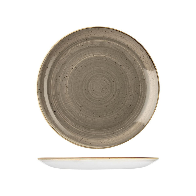 9975126-P Stonecast Peppercorn Grey Round Coupe Plate 260mm Chemworks Hospitality Canberra