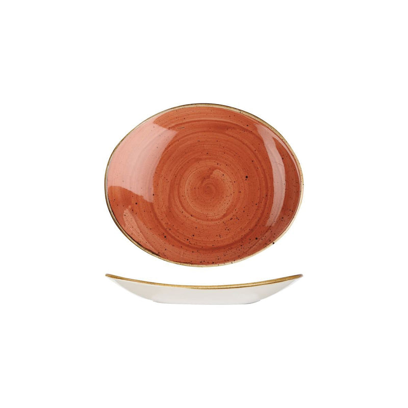9975220-O Stonecast Spiced Orange Oval Plate 192x163mm Chemworks Hospitality Canberra