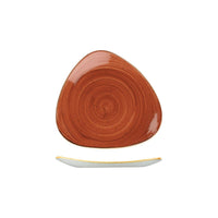 9975319-O Stonecast Spiced Orange Triangular Plate 192x192mm Chemworks Hospitality Canberra