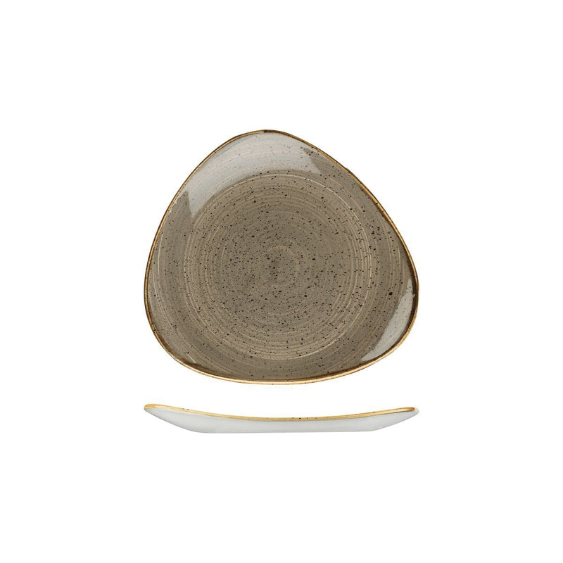 9975319-P Stonecast Peppercorn Grey Triangular Plate 192x192mm Chemworks Hospitality Canberra