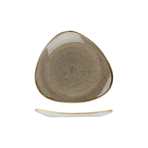 9975323-P Stonecast Peppercorn Grey Triangular Plate 229x229mm Chemworks Hospitality Canberra