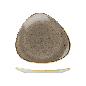 9975326-P Stonecast Peppercorn Grey Triangular Plate 265x265mm Chemworks Hospitality Canberra