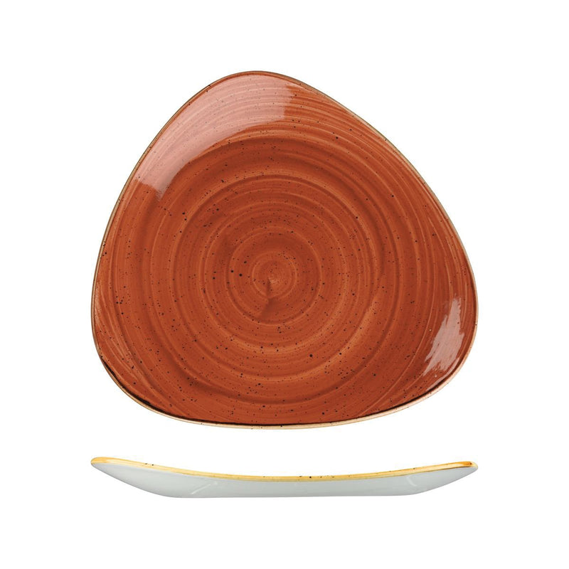 9975330-O Stonecast Spiced Orange Triangular Plate 311x311mm Chemworks Hospitality Canberra