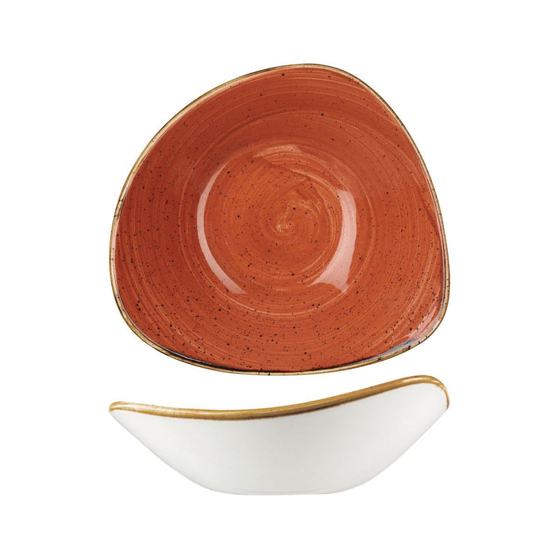 9975723-O Stonecast Spiced Orange Triangular Bowl 235x235mm / 600ml Chemworks Hospitality Canberra