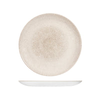9976126-AG Studio Prints Raku Agate Grey Round Coupe Plate 260mm Chemworks Hospitality Canberra