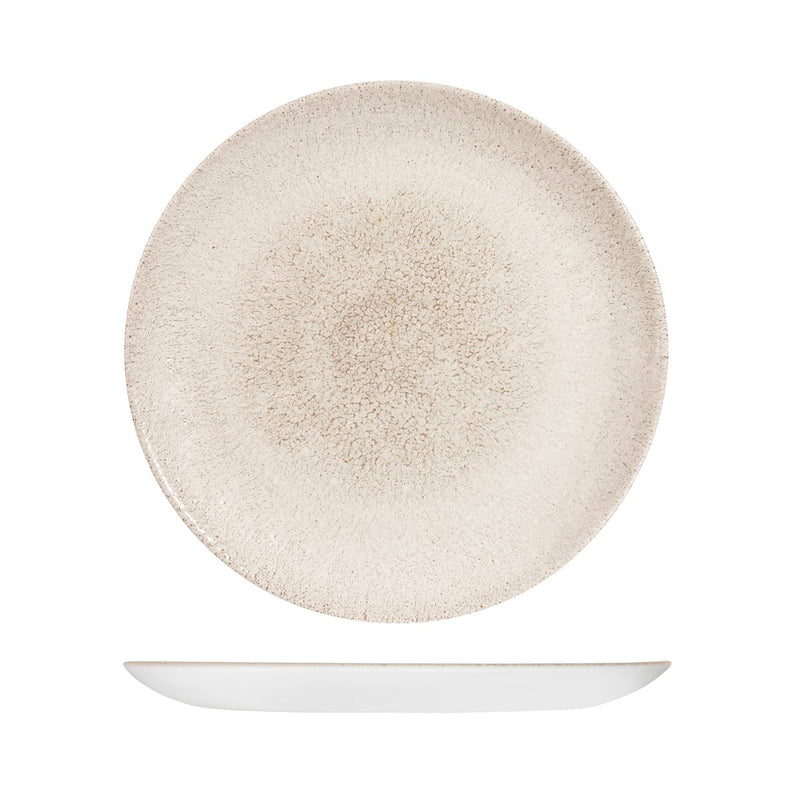 9976129-AG Studio Prints Raku Agate Grey Round Coupe Plate 288mm Chemworks Hospitality Canberra