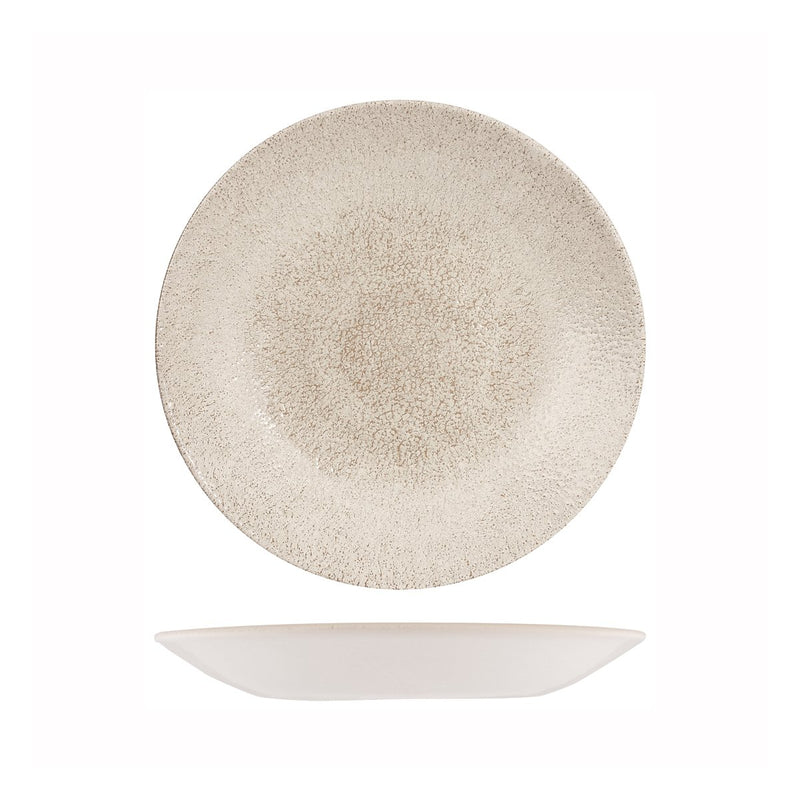 9976825-AG Studio Prints Raku Agate Grey Round Deep Coupe Plate 255mm Chemworks Hospitality Canberra