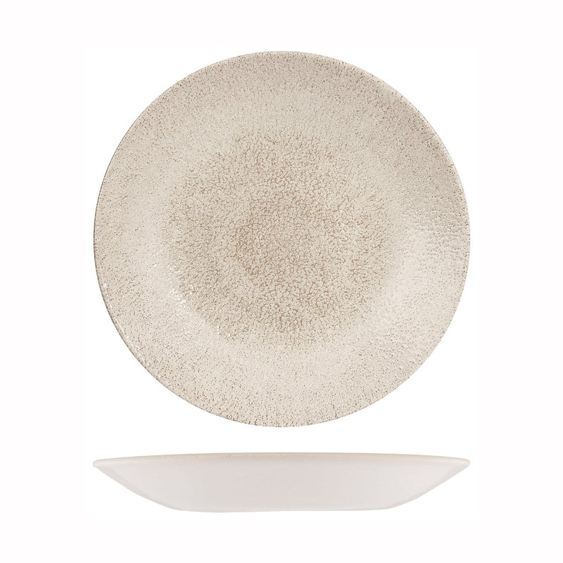 9976828-AG Studio Prints Raku Agate Grey Round Deep Coupe Plate 281mm Chemworks Hospitality Canberra