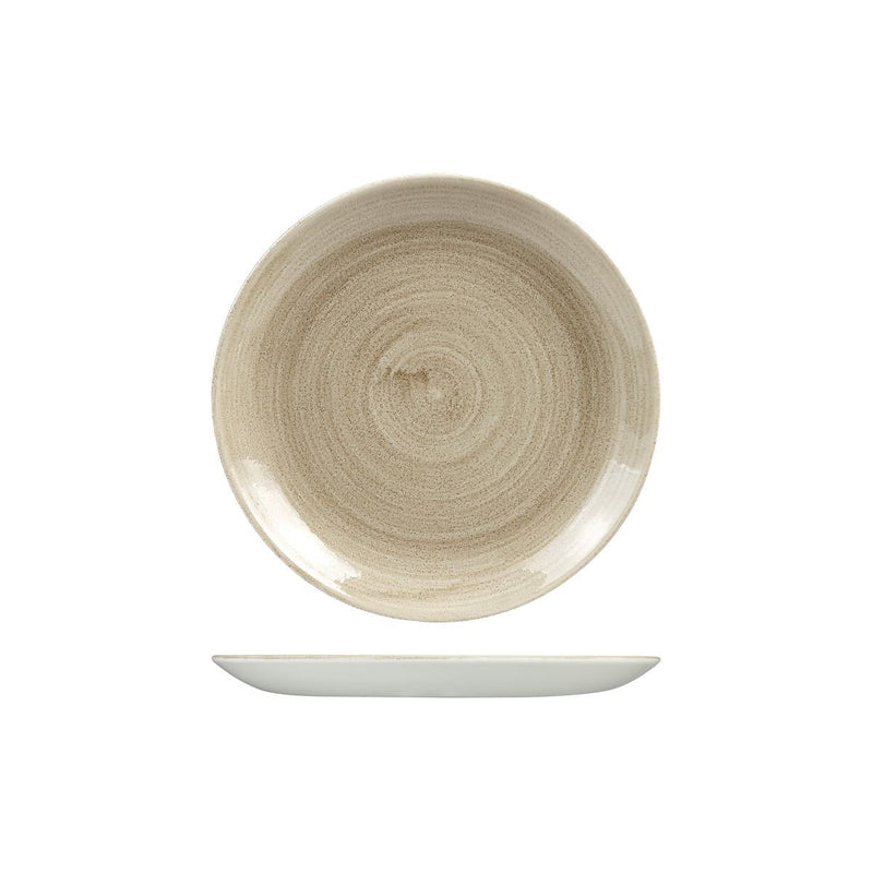 9978122 Stonecast Patina Antique Taupe Round Coupe Plate 217mm Chemworks Hospitality Canberra