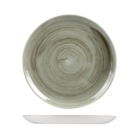 9978129-G Stonecast Patina Burnished Green Round Coupe Plate 288mm Chemworks Hospitality Canberra