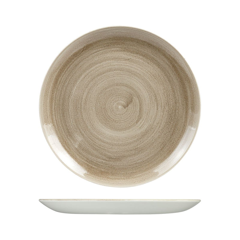 9978129 Stonecast Patina Antique Taupe Round Coupe Plate 288mm Chemworks Hospitality Canberra
