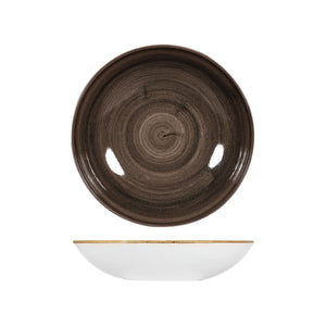 9978225-IB Stonecast Patina Iron Black Round Coupe Bowl 248mm / 1136ml Chemworks Hospitality Canberra
