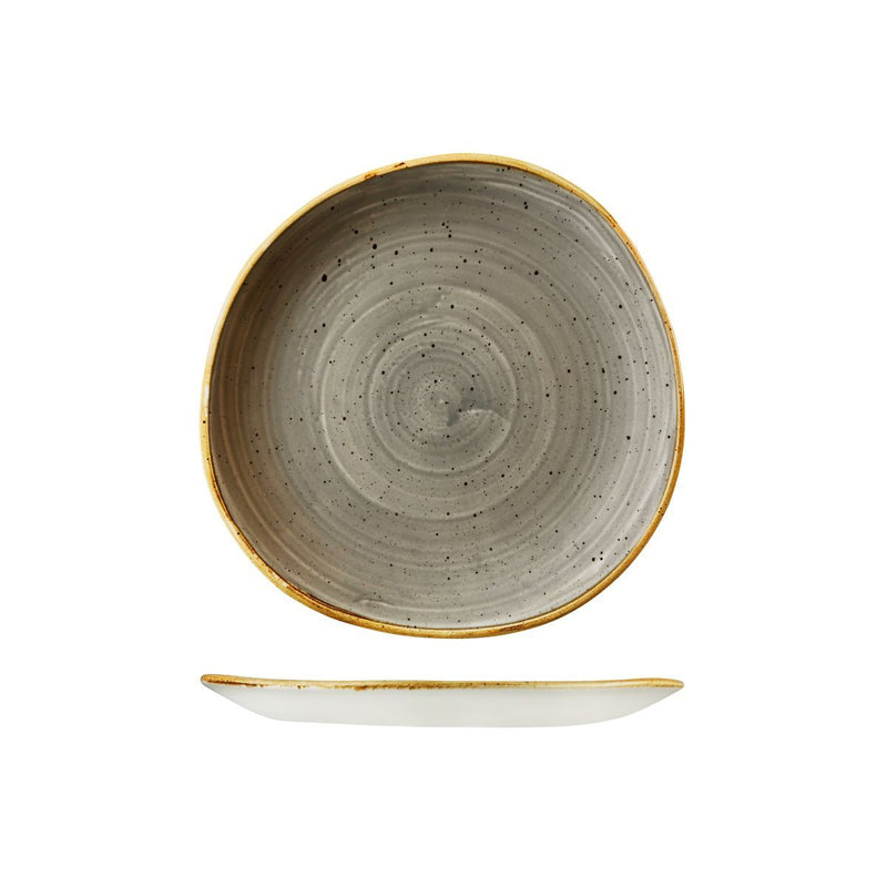 9979121-P Stonecast Peppercorn Grey Organic Round Plate 210mm Chemworks Hospitality Canberra