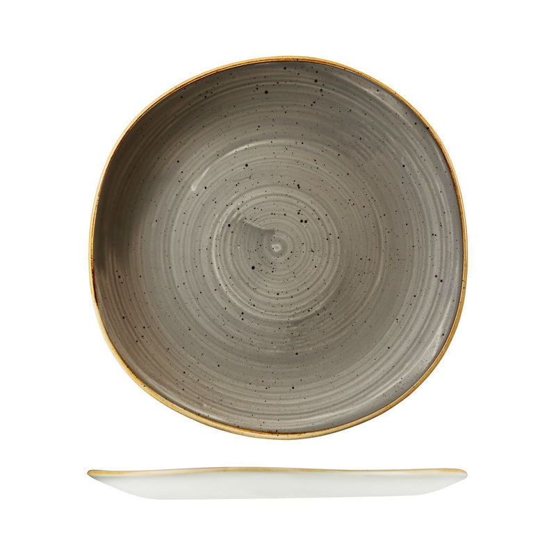 9979126-P Stonecast Peppercorn Grey Organic Round Plate 264mm Chemworks Hospitality Canberra