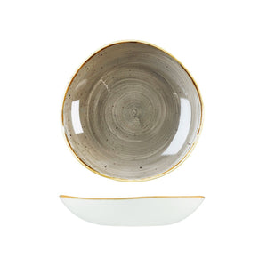 9979325-P Stonecast Peppercorn Grey Organic Round Bowl 253mm / 1100ml Chemworks Hospitality Canberra