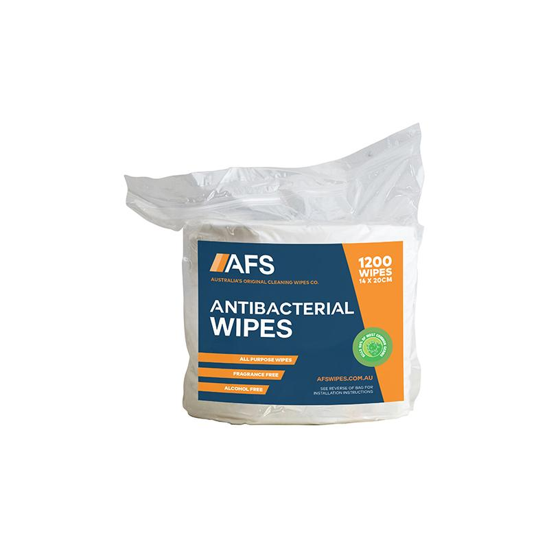 AFS1000 AFS Antibacterial Wipes 200x140mm 1200 Wipes Chemworks Hospitality Canberra
