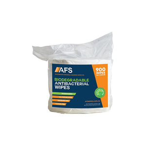 AFS6000 AFS Biodegradable Antibacterial Wipes 200x140mm 900 Wipes Chemworks Hospitality Canberra