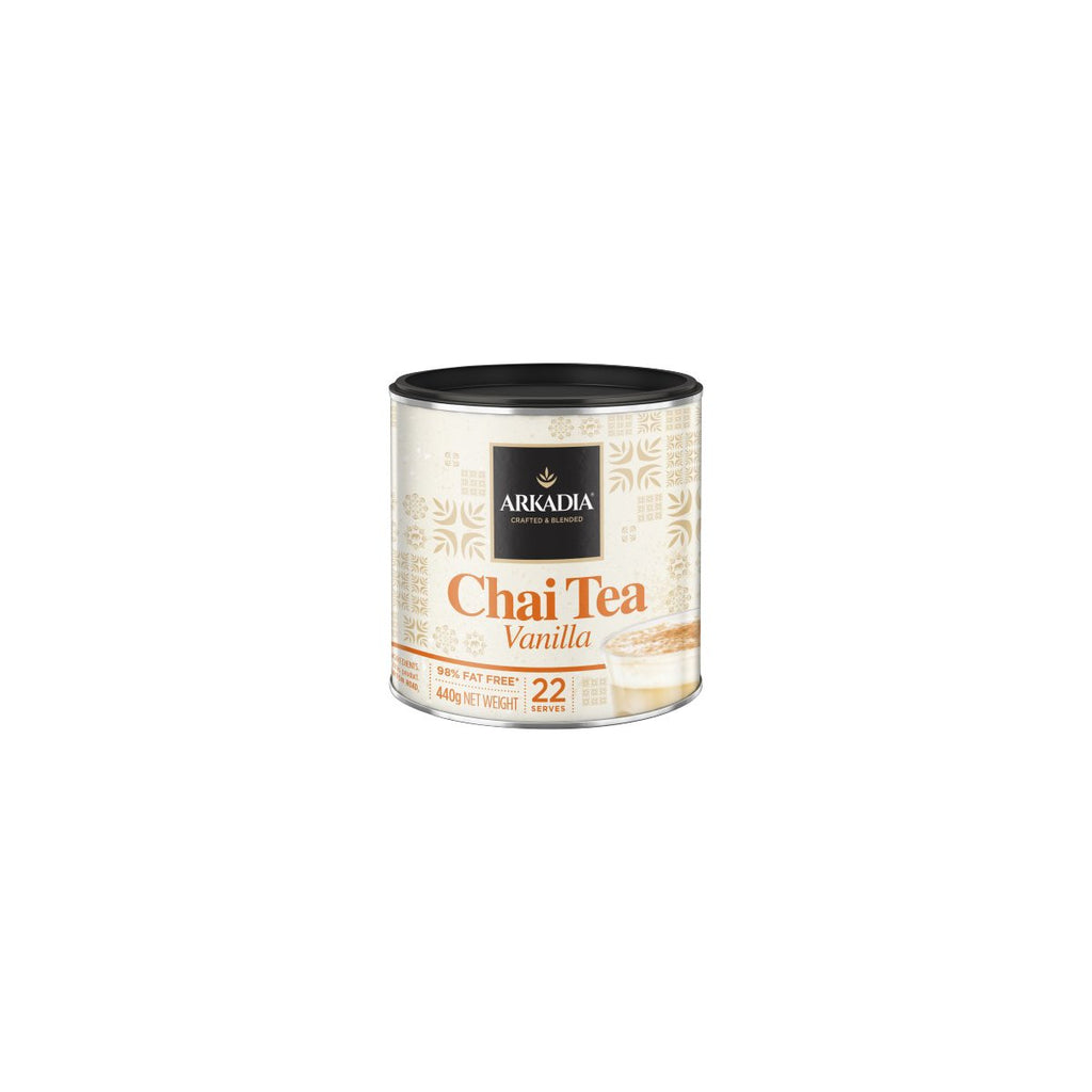 RT71606 Arkadia Chai Tea Vanilla Powder 440gm Chemworks Hospitality Canberra