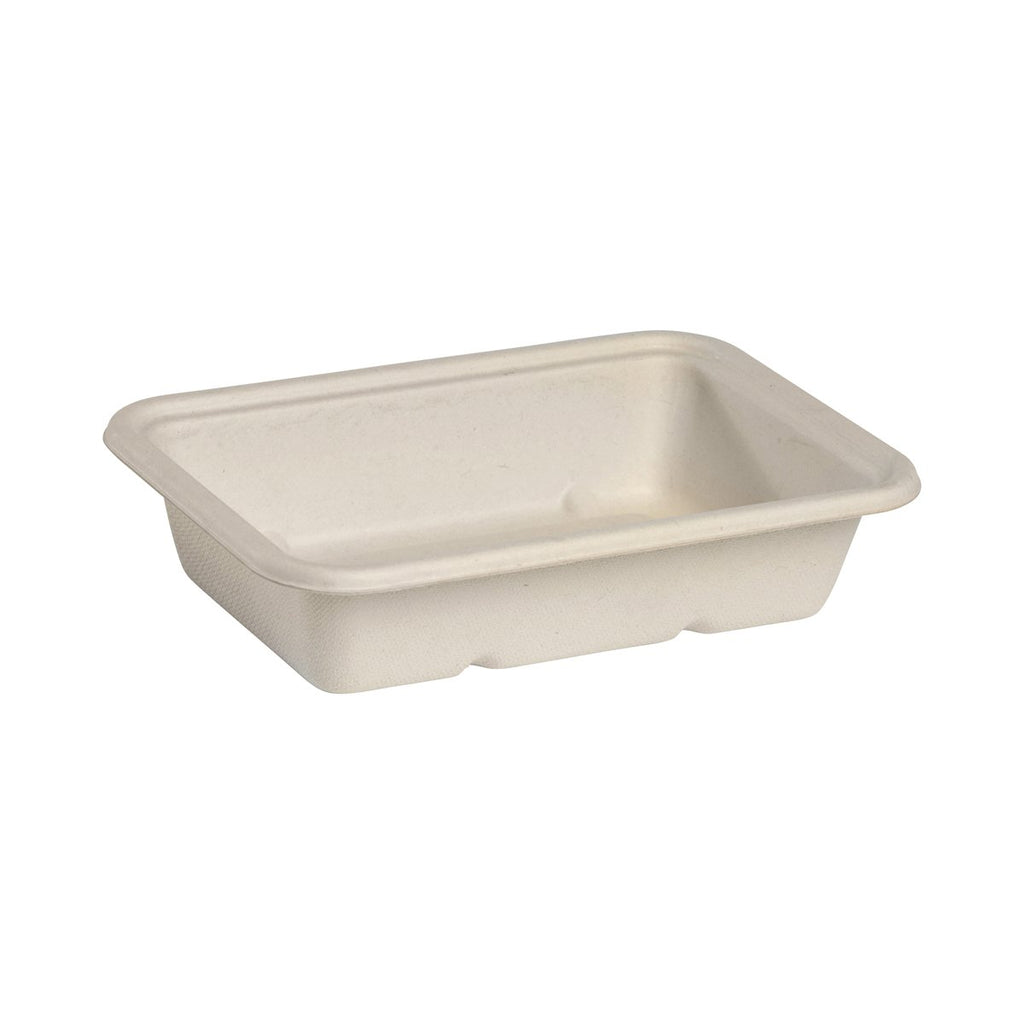 B-LB-500-N BioPak Rectangular Takeaway Natural Coloured Base - 500ml Chemworks Hospitality Canberra