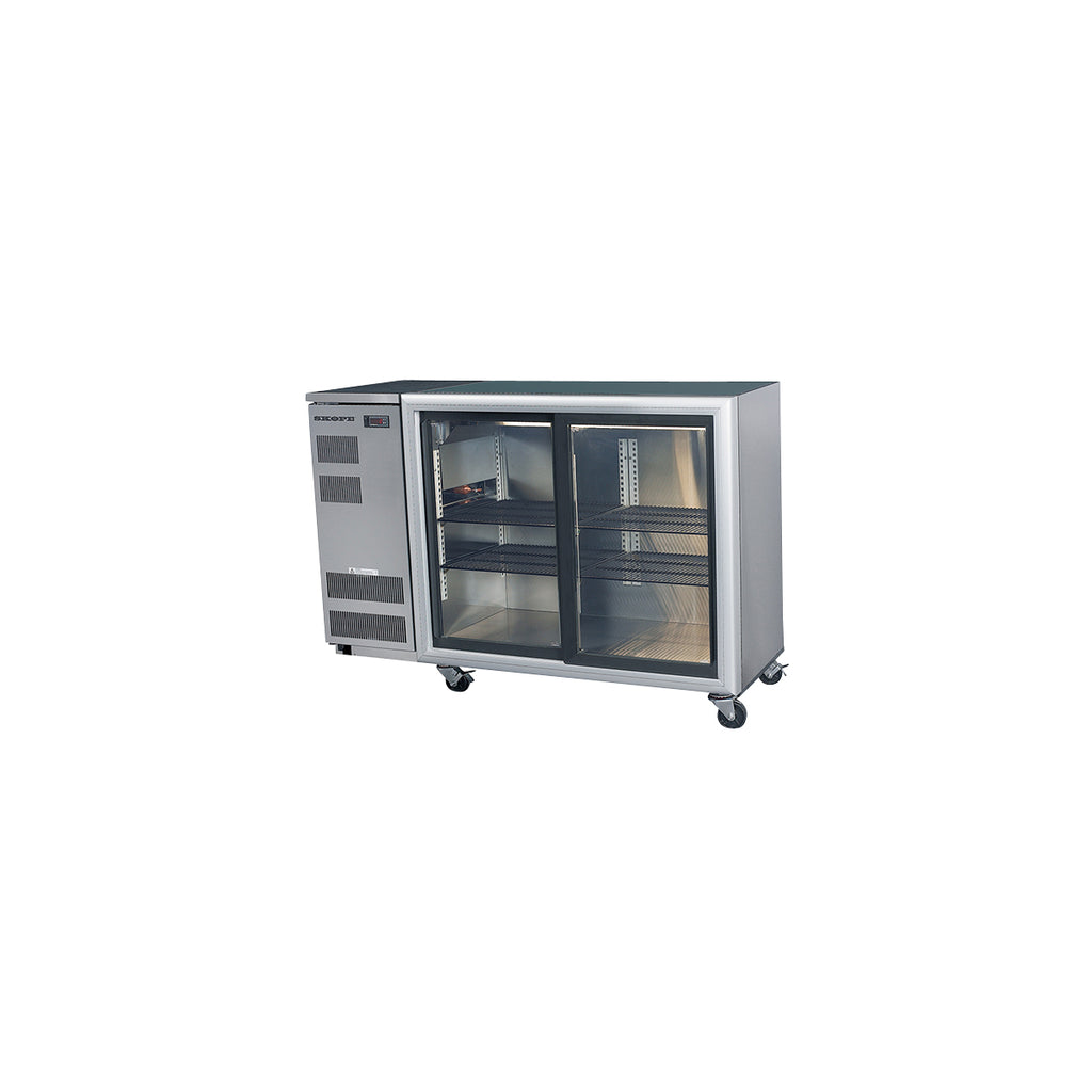 SKOPE Backbar Glass Sliding Door Display Fridge 2 Door