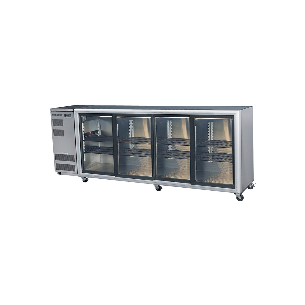 SKOPE Backbar Glass Sliding Door Display Fridge 3 Door