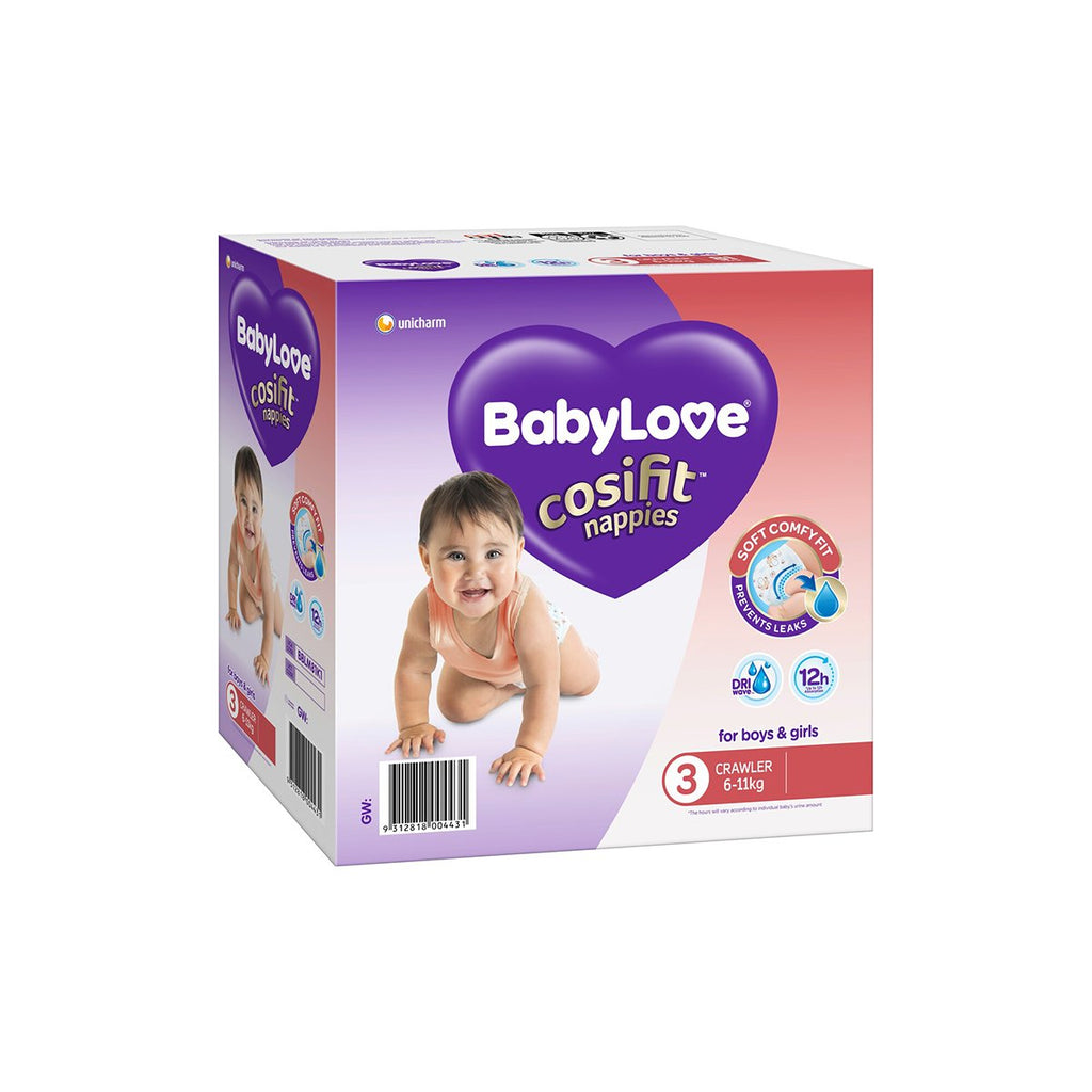 BBLM40K3 Baby Love Nappies Size 3 Crawler 6-11kg Chemworks Hospitality Canberra