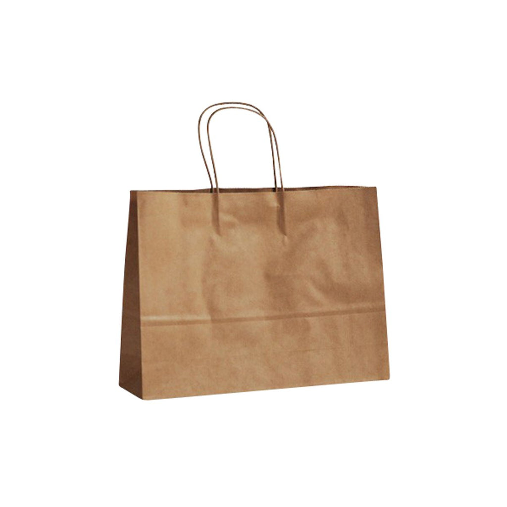 BCB-T-MBL Greenmark Kraft Boutique Paper Carry Bags 260x350x100mm Chemworks Hospitality Canberra