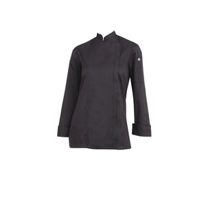 BCWLZ005-BLK-M Chefworks Chef Jackets Black Hartford Female Chef Jacket  Medium Chemworks Hospitality Canberra