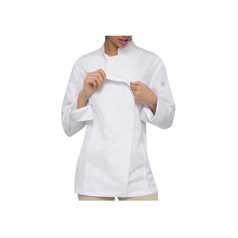 BCWLZ005-WHT-XS Chefworks Chef Jackets White Hartford Female Chef Jacket  X-Small Chemworks Hospitality Canberra
