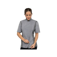 BCWSZ006-GRY-L Chefworks Chef Jackets Grey Short Sleeve Springfield Female Chef Jacket  Large Chemworks Hospitality Canberra