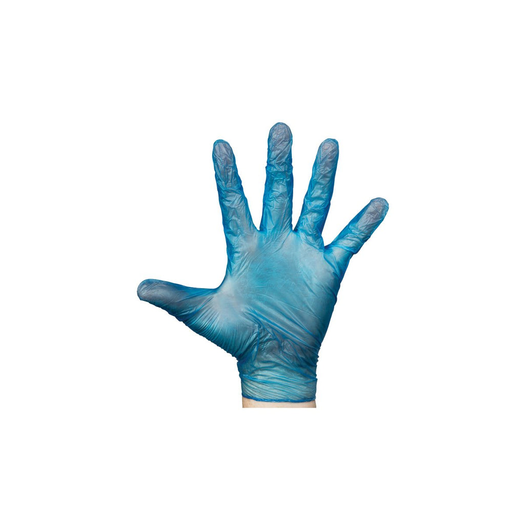 BNG3892 Vinyl Blue Gloves Powder-Free - Small Chemworks Hospitality