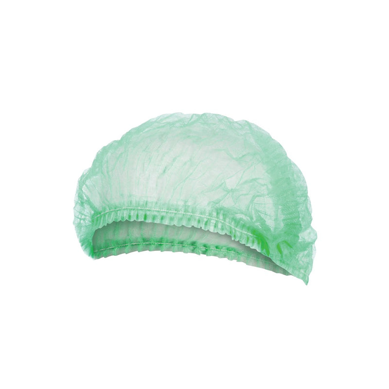 BNR21254 Crimped Beret / Bouffant Cap - Green Chemworks Hospitality Canberra