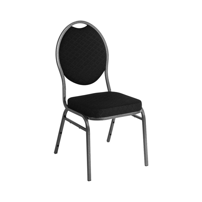 CE142 Oval Black Stackable Banquet Chair Chemworks Hospitality Canberra