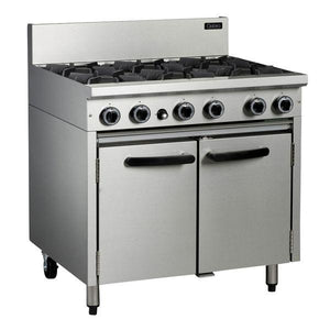 MO-CR9D Cobra 900mm Gas Oven Range with Static Oven Chemworks Hospitality