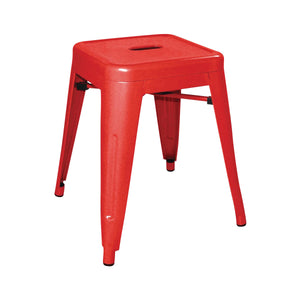 DL870 Low Stackable Bistro Steel Stools - Red 400x400x460mm Chemworks Hospitality Canberra